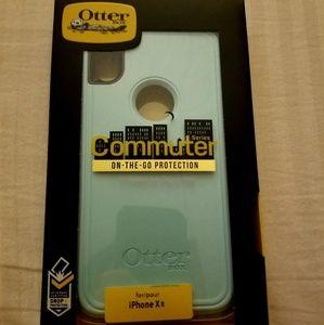 Iphone X blue otterbox commuter case